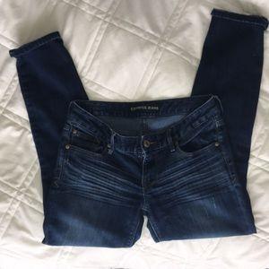 Express Dark Jeans Stella Low Rose Skinny 4 Short